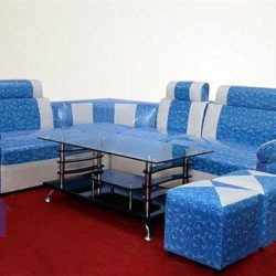 Thanh lý sofa góc bọc da xanh cốm giá rẻ