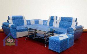 Mẫu sofa văng hiện đại nhập khẩu Châu Âu màu xanh đậm huyền bí, sang trọng