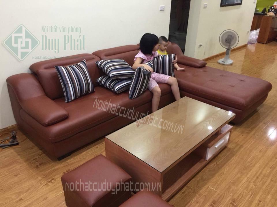 Thanh lý sofa góc bọc da cao cấp mới 99,9%