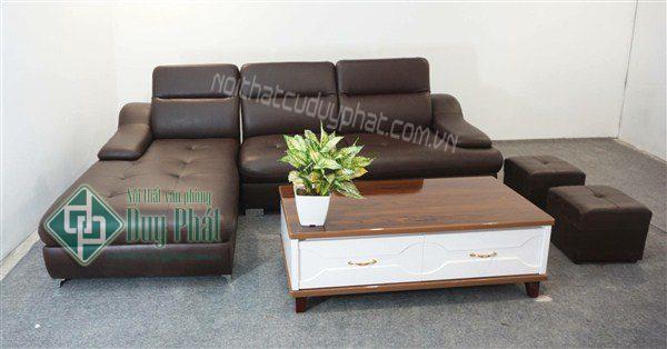 Thanh lý sofa góc bọc da Hàn Quốc mới 99,9%