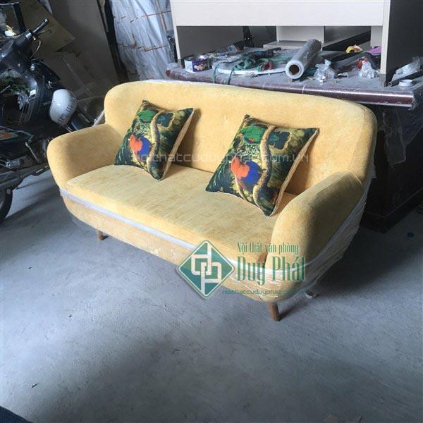 Thanh lý sofa đơn nỉ tân cổ điển mới 100%
