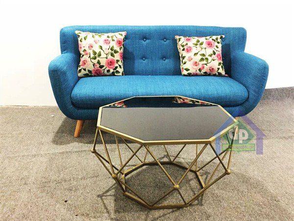 Thanh lý ghế sofa đơn màu xanh rêu