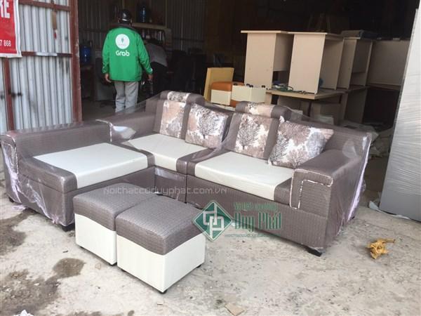 Ghế sofa góc nỉ thông minh 3 cục