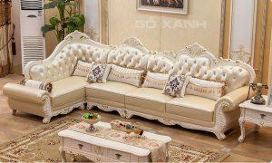 Sofa phòng khách cao cấp chất liệu da