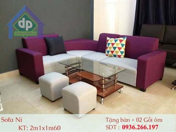 Những ưu điểm của sofa vải nỉ trong nội thất phòng khách