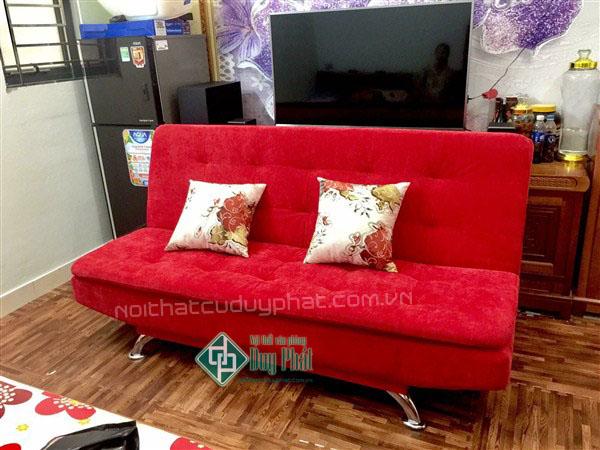 Ghế sofa giường giá rẻ màu đỏ