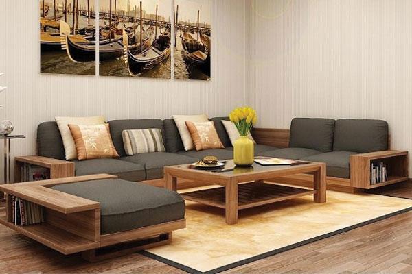 Mẫu sofa gỗ đẹp cho không gian phòng khách hoàn hảo