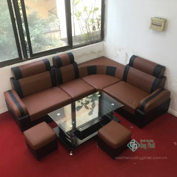 Ghế sofa góc 4 cục bọc da màu cafe kết hợp màu đen kt 1m6x2m1 2,300,000₫